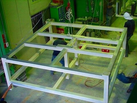 クリーンルーム仕様焼付塗装 2300×2000×1400
